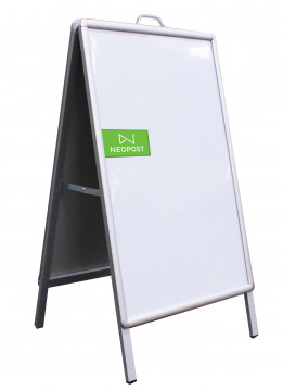 A FRAME 0.5X0.7M DOUBLE SIDE (WITH PVC BOARD)