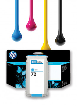 HP 72 130ML CYAN WIDE FORMAT INK