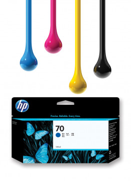 HP 70 BLUE 130ML WIDE FORMAT INK CARTRIDGE (C9458A)