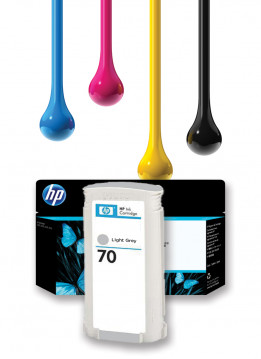 HP 70 LIGHT GREY WIDE FORMAT INK 130ML