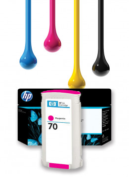 HP 70 MAGENTA WIDE FORMAT INK 130ml