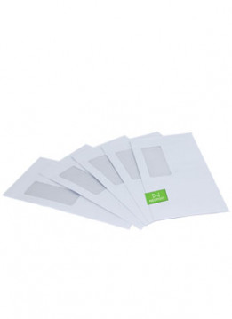 Quadient Envelopes  110 x 220 Press Seal/Std Window-Secretive (DL) - 500 per box